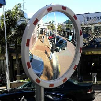 "800mm (32"") High Visibility Traffic Mirror"