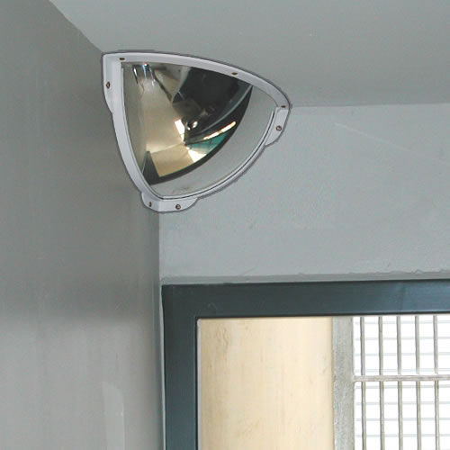 500mm Stainless Steel Quarter Dome Cell Mirror