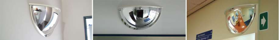 Indoor Covered Half Dome Mirror