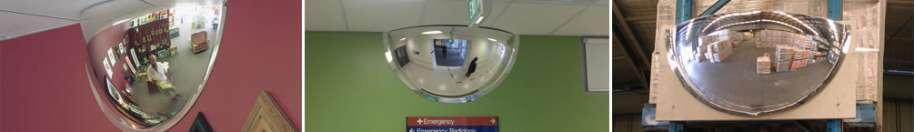 Indoor Half Dome Acrylic Mirrors