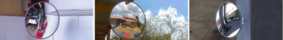Indoor-Outdoor Convex Mirrors