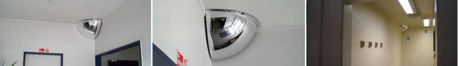 Indoor Quarter Dome Acrylic Mirrors